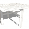 H120 TABLE CARRE